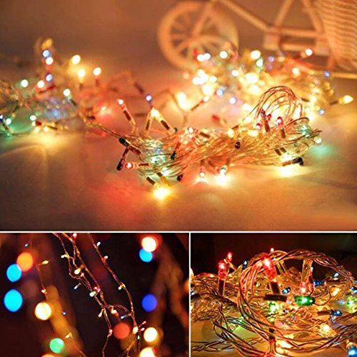 Set of 54 led lights flashing light Noel White (White), Solid Color LED Lights, led christmas lichristmas party Tree Holiday Wedding Party Decoration Halloween Showcase Displays Restaurant - Name Colours Of Serial All
