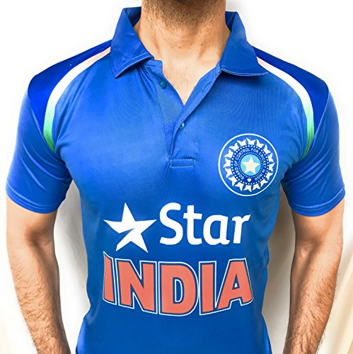 Cricket team Jersey T shirt T20 ODI 2018 Kids to Adult India (S)