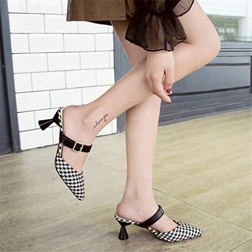 YUCH Femme Hauts Ge Cool Boucles Chaussures Talons Pantoufles f1x6qfZw