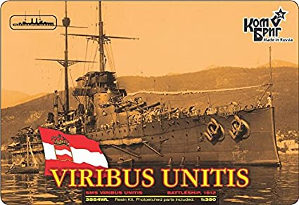 Amazon.com: Combrig 1/350 Battleship SMS Viribus Unitis, 1912, resin ...