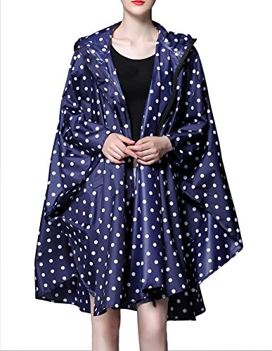 Buauty Womens Hooded Zip Up Waterproof Active Plus Size Outdoor Rain Jacket Raincoats Lightweight Poncho by Buauty