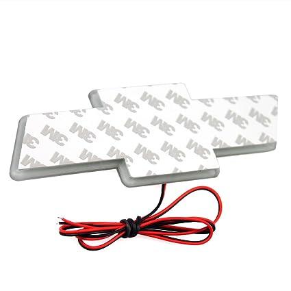 SuperLED LED blanco coche luz Logo Emblema Adhesivo para Chevrolet Cruze