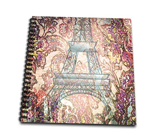 Eiffel Scrapbooking Tower - 3dRose db_59895_3 Paris Romance-France-Eiffel Tower-Art-Mini Notepad, 4 by 4