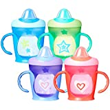Tommee Tippee Hold Tight Baby Trainer Sippee Cup, Spill Proof, Non-Slip, Easy Clean, 7+ Months, 2 Count (Colors May Vary)