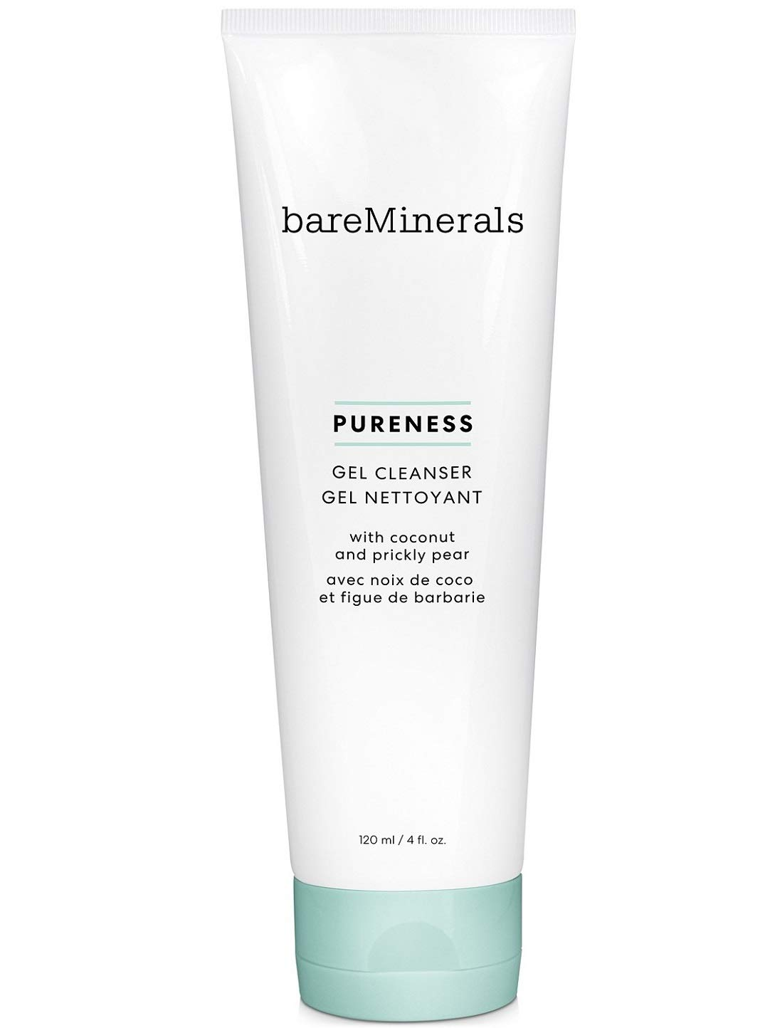 bareMinerals Pureness Gel Cleanser Coconut And Prickly Pear, 4.6 Ounce, Multi