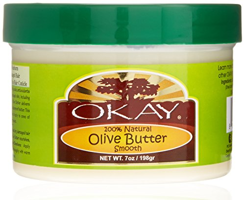 OKAY | Olive Butter | For Skin & Hair | Restores Moisture to Dry Damaged Skin | Heals, Nourishes & Conditions Hair | 100% Natural | 7 oz