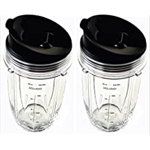 Sduck Replacement Parts for Nutri Ninja Blender, 2 x Small 18 oz. Cup with Sip and Seal Lid for 1000W Auto-iQ and Duo Blenders Nutri Ninja Blender not for BL660 BL770 BL780 BL810 BL820 BL830