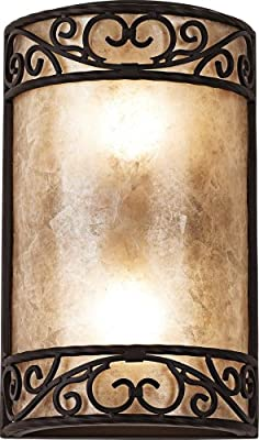 """Natural Mica Collection 12 1/2"""" High Wall Sconce Fixture"""