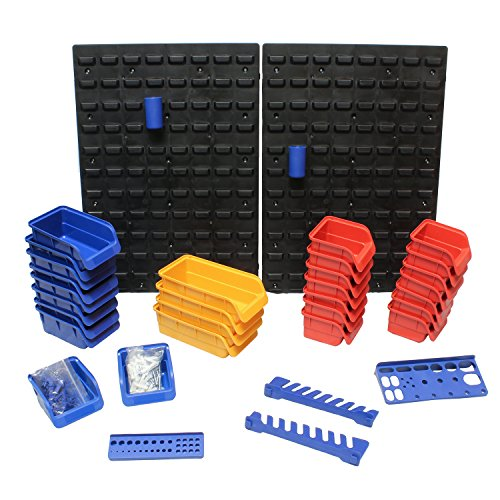 ABN Tool Holders Multi Tool Organizer Tool Tray Wall Mount Pegboard 45pc – Wrench Holder, Parts Tray, Tool Storage Rack by ABN (Image #1)
