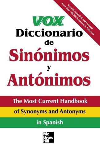 Vox Diccionario De Sinonimos Y Antonimos
