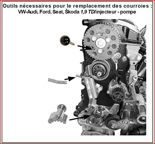 Juego de calado para correas de distribución de VW Audi Seat Skoda: Amazon.es: Coche y moto