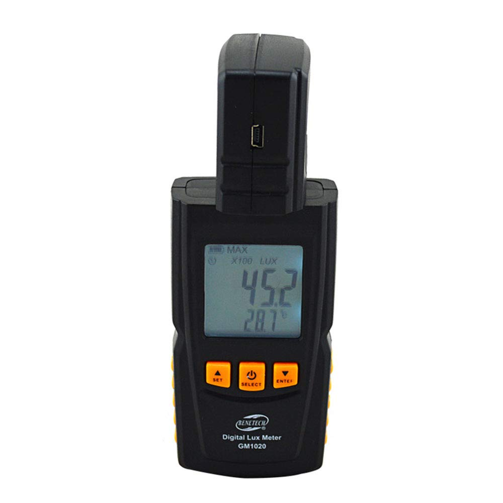 Light Meter Lux Meter Digital Illuminance Meter Handheld Ambient Temperature Measurer with Range Up to 200,000 Lux Luxmeter with 3 Digit LCD Screen by Lee Lam