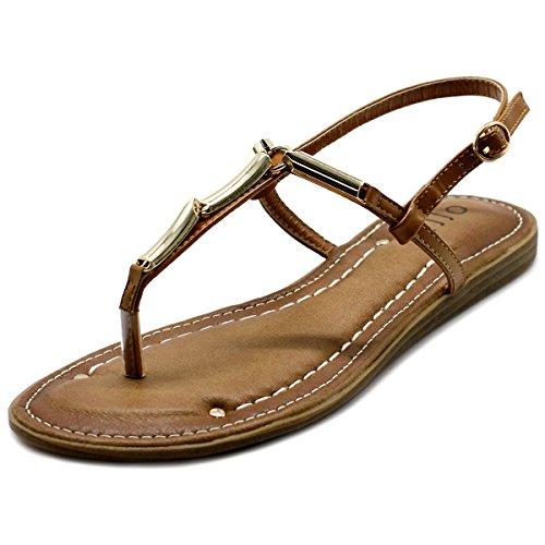 Metallic T-strap Sandals - 7
