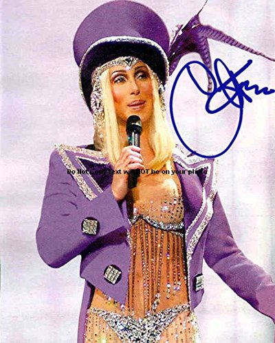 Cher Autographed Preprint Signed Photo 1