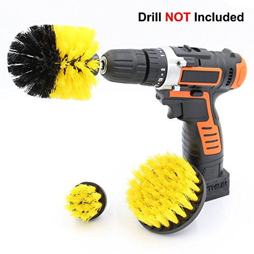 Cooptop Medium Bristles Drill Brush Set - Bathroom & Kitchen