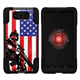 TurtleArmor | Motorola Droid Maxx Case | Droid Ultra Case | XT1080 [Gel Max] Dual Layer Hybrid Kickstand Feature Absorber Silicone Cover War and Military Design - American Soldier