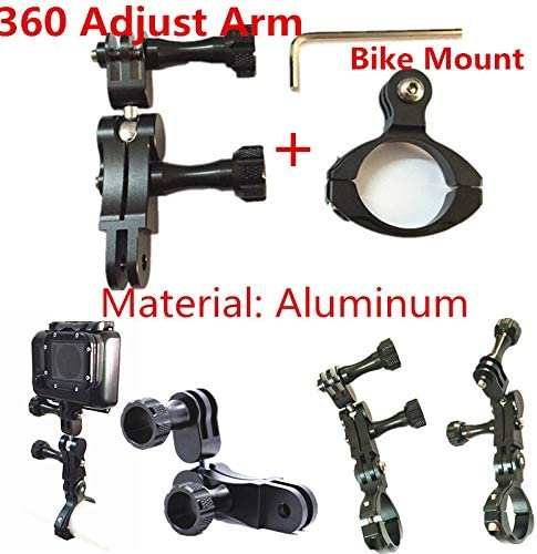 XIANYUNDIAN Aluminum Accessories 360 Degree Rotating Grip 3-Arm Mount+Bike Handlebar Clamp for Gopro Hero7//6//5//4//3+//3 Session Action Camera Accessories Camera Mounts Clamps