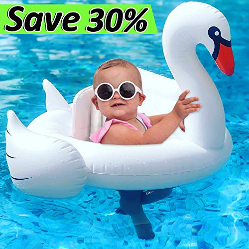 Swan Baby Swimming Float Ring, Dreamoo Inflatable Baby Swimming Ring for Age 8 - 48 Months Floats Kids Boys Girls Toddlers Pool Outdoor Indoor Summer Fun Water Bath Beach Water Bath Toys]()