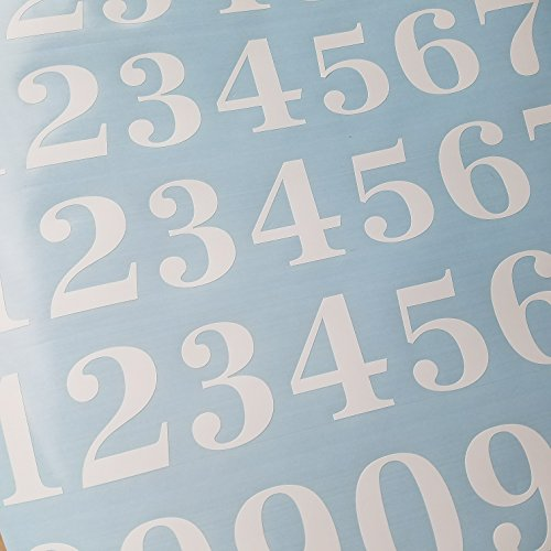 Classic Style Die Cut Vinyl Numbers (2 inch Matte White)