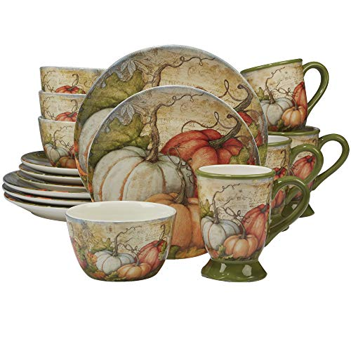 Certified International 89126 Autumn Fields 16 piece Dinnerware Set, Set of 4, One Size, Mulicolored ()