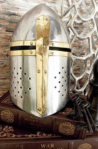Deco 79 Metal Crusader Helmet Can Be Clubbed with Small Decorative Items by Deco 79 (Image #3)