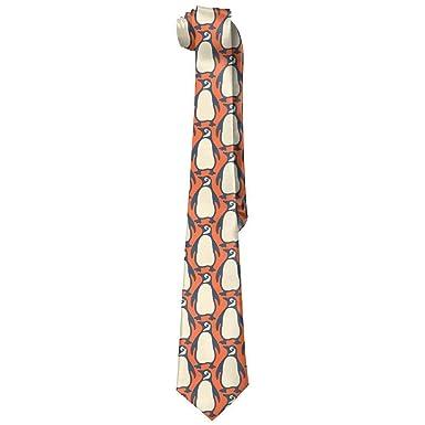 Xukmefat RoRoRo Funny Penguin Pattern Skinny Necktie Tie Corbata ...