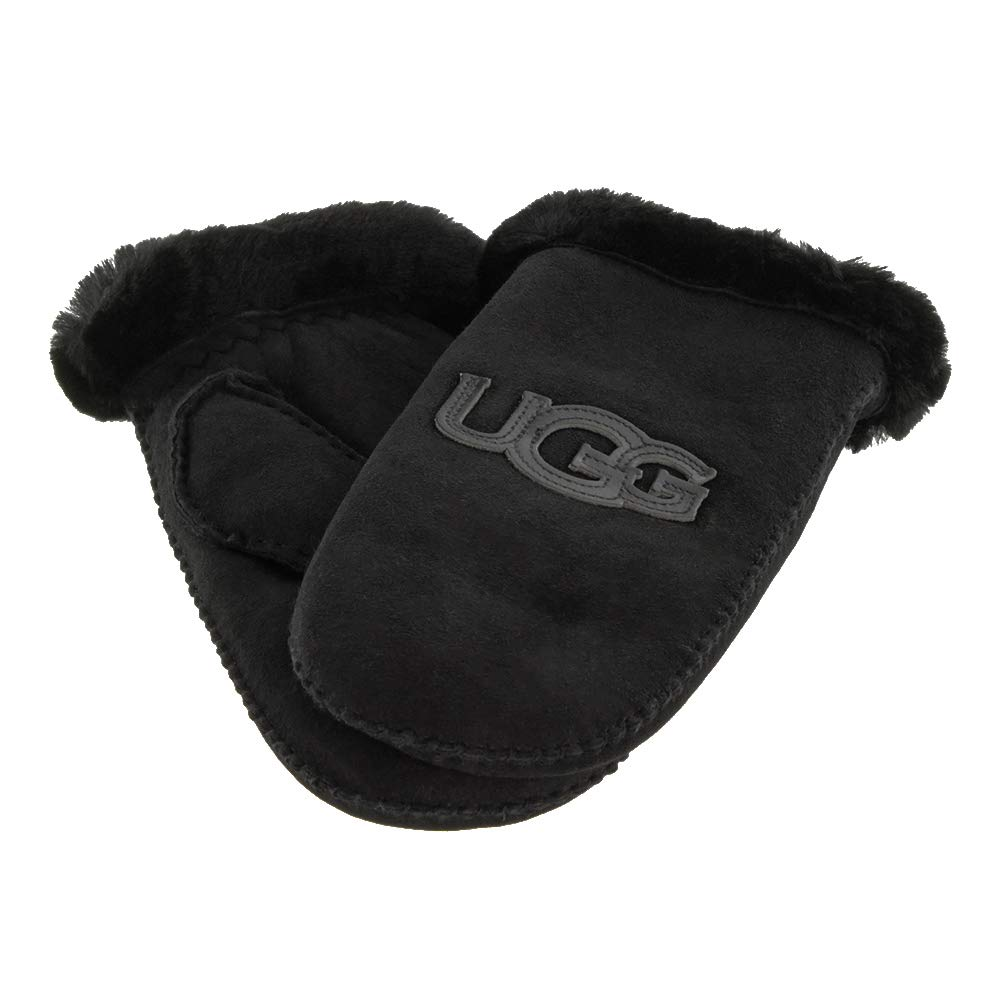 b0dc9622e62 Amazon.com: UGG Women's Logo Water Resistant Sheepskin Mitten Black ...