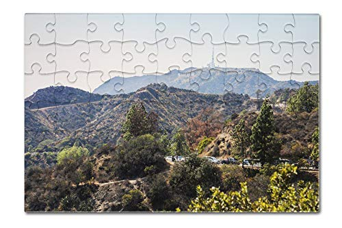 Mountain view with Hollywood Sign from the Griffith Observatory A-92271 (8x12 Premium Acrylic Puzzle, 63 Pieces) (Diamond Award Acrylic Beveled)