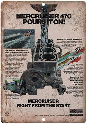 Mercruiser Poursiton船外機 注意看板メタル金属板レトロブリキ家の装飾プラーク警告サイン安全標識デザイン贈り物