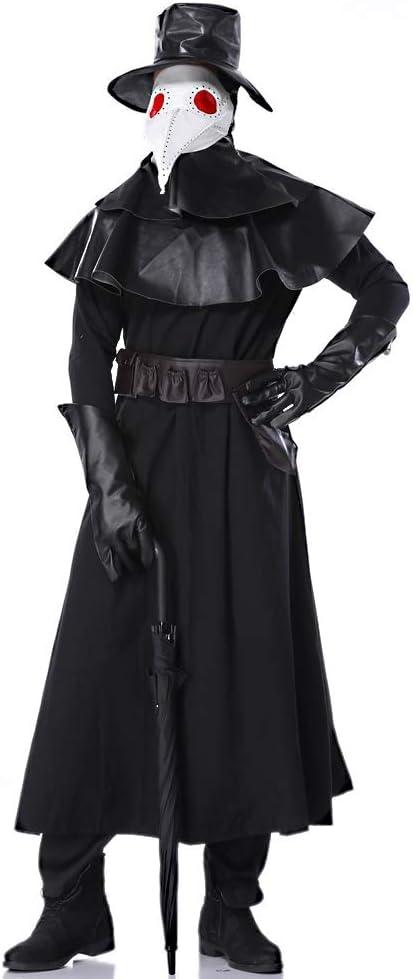 HUOFEIKE Dark Style Crow Doctor Cosplay, Disfraz de Halloween ...