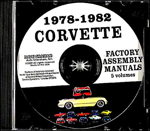 1978 1979 1980 1981 1982 CORVETTE FACTORY ASSEMBLY INSTRUCTION MANUAL CD - COVERING ALL MODELS. CHEVY - CHEVROLET