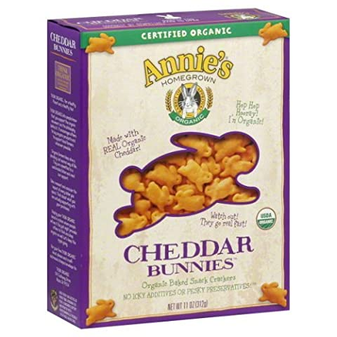 Annies Homegrown Organic Cheddar Bunnies Crackers 11 oz - Pack of 12