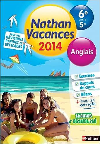 Livre Nathan Vacances Anglais - De la 6è vers la 5è epub, pdf