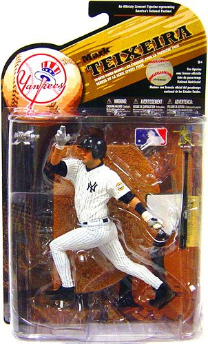 McFarlane Toys MLB Sports Picks Series 25 (2009 Wave 2) Action Figure Mark Teixeira (New York Yankees) White Uniform