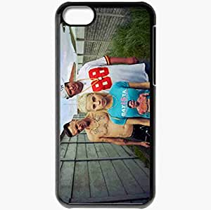 Personalized iPhone 5C Cell phone Case/Cover Skin Die Antwoord Tattoo Girl Blonde Fence Black