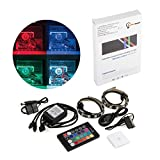LumenBasic Computer Case LED Strip Full Kit SATA 4 pin RGB 5050 SMD 2pcs 18leds 30cm Remote Controller Desktop Computer Light Mid Tower Case Magnetic