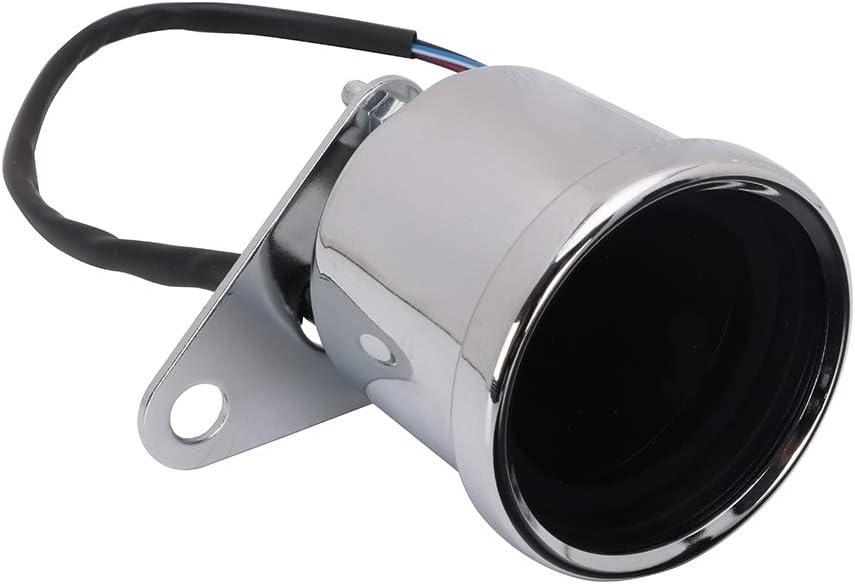 Motorrad LCD Tachometer Tachometer Tachometer Kraftstoffanzeige f/ür Honda Kawasaki Yamaha Suzuki Cafe Racer Old School Bobber Silber