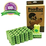 Top Rated EcoJeannie 420-Count (21 Rolls) Dog Poop Bags+1 Dispenser w/Stainless Steel Clip :Environment Friendly w/ d2w for Fast Degradation,Dog Waste Bags,Lavender Scented,Pet Waste Poopbags(PB0002)