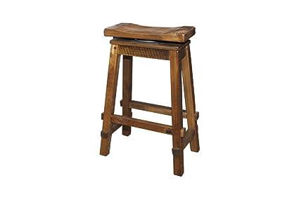 Awe Inspiring Amazon Com Rustic Reclaimed Barn Wood Swivel Saddle Stool Pdpeps Interior Chair Design Pdpepsorg