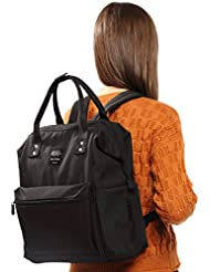 Large Doctor Bag Backpack with Insulated Compartment for Women,Muliti-purpose Casual Daypacks for Travel (Black)