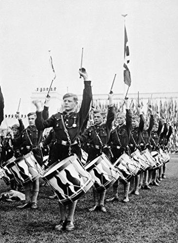Hitlerjugend Hitler Youth B&W Photo Art Print