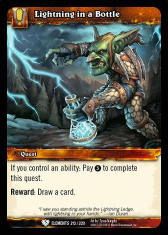 World of Warcraft TCG - Lightning in a Bottle (213) - War of the Elements