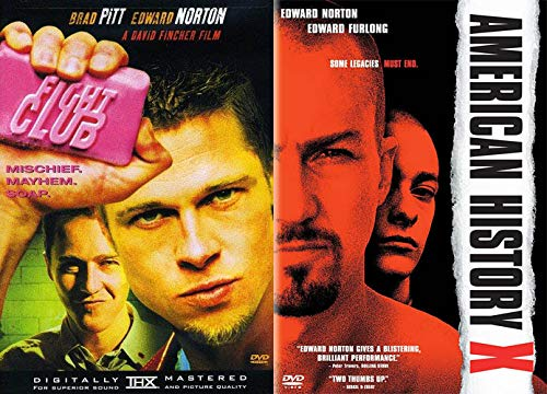 Edward Norton is CRAZY Double Feature: Fight Club & American History X (2 DVD Bundle
