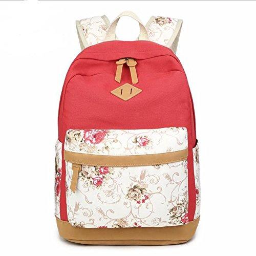 XIAOLI& Outdoor Travel Rucksack Schultasche Rucksack, Violett Red