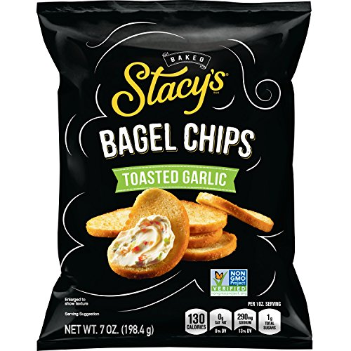 - Stacy's Toasted Garlic Flavored Bagel Chips, 7 Ounce Bags (Pack of 12)