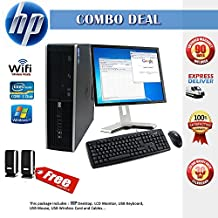 HP Compaq Elite 8000 SFF Desktop Complete Computer Package with Intel Core 2 Duo 3.0GHz - 8GB RAM - 160GB HDD- DVD RW- Windows 7 Pro 64-Bit - Keyboard, Mouse + 19 Inch Monitor + WiFi + Speaker