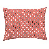 Roostery Tri Coral Southwest Southwest Baby Southwest Nursery Coral Triangles Standard Knife Edge Pillow Sham Triangle Coral Triangles by Andrea Lauren 100% Cotton Sateen