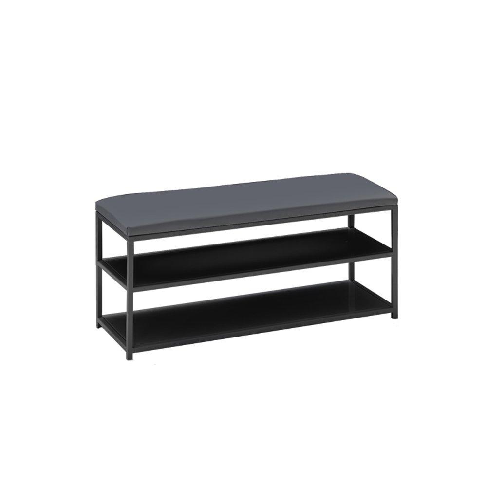 YANFEI ストレージスツールは、靴のキャビネットに座ることができますマルチレイヤーシンプルなシューズラックホームウェアシューズベンチ90 * 40 * 32CM (色 : Black) B01CFBCJXW Black