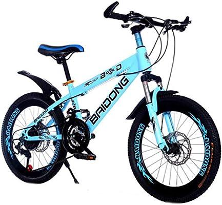 WJSW Bicicleta Freestyle Azul Bicicleta de montaña Frenos de Doble ...