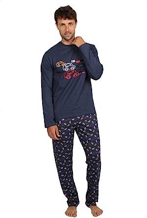 ADMAS - Pijama Hombre Hombre Color: Azul Talla: Large : Amazon.es